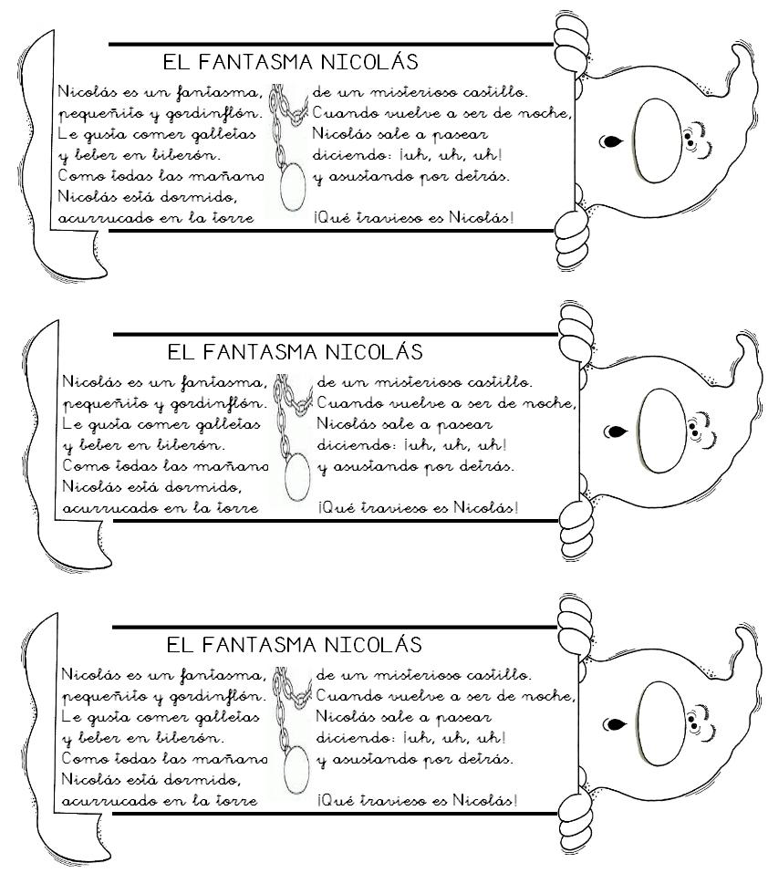 separador de libros el fantasma Nicolás | Rincón de infantil